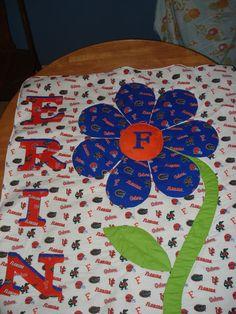 crib blanket I LOVE THIS, Need a Georgia and a Gator one hehe