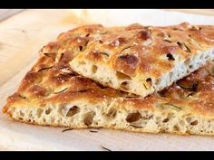 Focaccia al Rosmarino Ciabatta, Pan Focaccia, Baking And Pastry, Bread Baking, Special Bread Recipe, Good Food, Yummy Food, Complete Recipe, Pita Bread