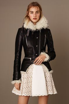 THE BIKER JACKET but softer... Alexander McQueen Pre-Fall 2015 Runway – Vogue