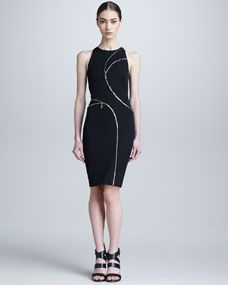 Versace Asymmetric Zip-Detail Dress viscose/modal/spandex with viscose/polyester lining