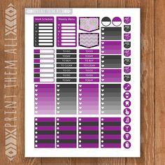 HALLOWEEN Printable Planner Stickers Happy by PrintThemAllStudio