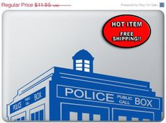 15% off Sale Doctor Who Decal - Police public call box Tardis - vinyl decal sticker for macbook pro air 11 13 15 17, iPads and other