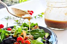 Bacon Vinaigrette combines that tangy flavor you expect from a vinaigrette with the smokey flavor of the bacon