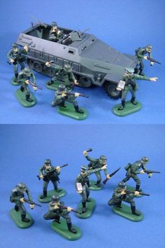 Classic Toy Soldiers WWII US 105MM Cannon Battleground Playset Piece Green