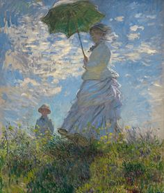 Claude Monet (French, 1840-1926): Woman with a Parasol - Madame Monet and Her Son, 1875