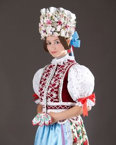 Rejdová, Gemer, Slovakia Folk Costume, Costumes, Popular, Folk Clothing, Tribal Dress, Folk Fashion, Belly Dancers, Big Bows, Kids Wear