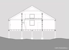Image 1 of 26 from gallery of Holmes - Fuentealba House / Francis Pfenniger. Photograph by Carlos Hevia Electrical Cad, Cad Blocks, Landscape Drawings, Prefab, Contemporary Architecture, Autocad, Urban Design, Designs To Draw, Tiny House