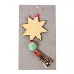 Wooden Star Decoration by Meri Meri
