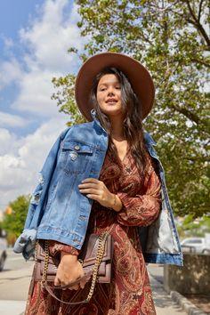Simple Things, Dog Walking, Grocery Store, Baddies, Cowboy Hats, Autumn Fashion, Fashion Dresses, Bohemian, Lunch