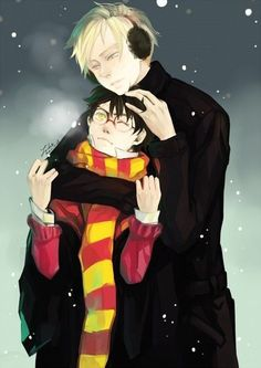 Immagine di draco malfoy, harry potter, and yaoi Draco Harry Potter, Harry Potter Anime, Harry Potter Ships, Harry Potter Universal, Harry Potter Memes, Hermione, Drarry Fanart, Hogwarts, Slytherin