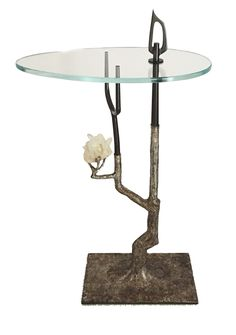 Buy Buranchi Drinks Table in silvers by James Logan Furnishings - Made-to-Order designer Furniture from Dering Hall's collection of Contemporary Mid-Century / Modern Organic Side & End Tables.