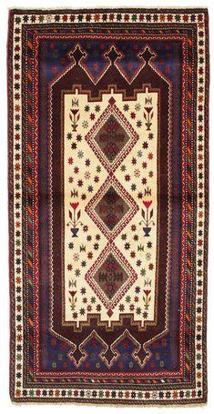Afshar Teppich 210x105