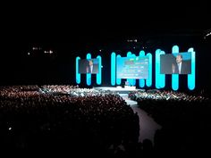 Awesome stage design at the Cisco Live London UK 2011 #meetingprofs #meetingplanning #eventplanning #eventprofs #stagedesign