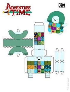 Paper Doll House, Paper Dolls Book, Paper Toys, Paper Crafts, Adventure Time Crafts, Olaf Craft, Paper Doll Template, Paper Cube, Paper Engineering