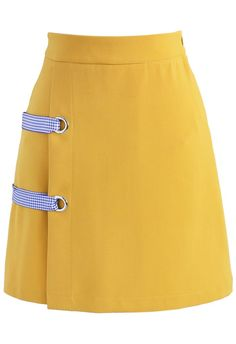 Leisure Direction Flap Bud Skirt in Yellow - New Arrivals - Retro, Indie and Unique Fashion