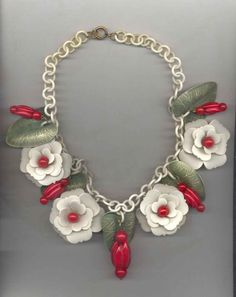 Celluloid and Bakelite Flower Necklace