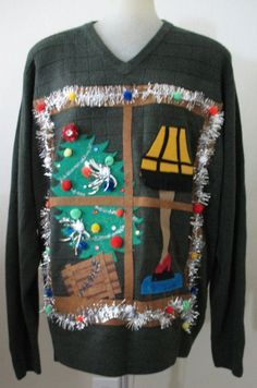 Ugly Christmas Sweaters - Ugly Christmas Sweater - Your Big Collection of Outrageously Ugly DIY Christmas Sweater Ideas Couple Christmas, Tacky Christmas Party, Diy Ugly Christmas Sweater, Ugly Sweater Party, Christmas Jumpers, A Christmas Story, Diy Christmas, Xmas Sweaters, Christmas Outfits