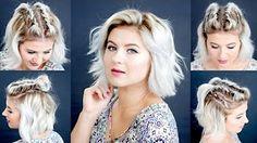 10 Easy Short HairStyles With Straightener | Milabu - YouTube