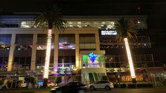 Iluminación de palmeras en City Shops del Valle