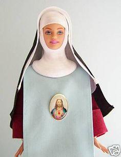 Redemptoristine Nun doll made from a Barbie doll - nice idea for girls! Barbie Clothes, Barbie Dolls, Nun Costume, Nuns Habits, Gothic Horror, High Fantasy, Pioneer Woman, Roman Catholic, Dip