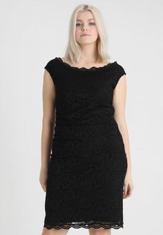 Swing Curve EXCLUSIVE SWING BARDOT BODYCON DRESS - Koktejlové šaty   šaty  na párty - black - Zalando.cz 8bfc7197d26