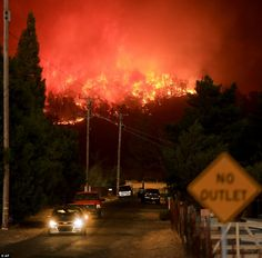 There were post-apocalyptic scenes in California Sunday night as raging wildfires blitzed ...