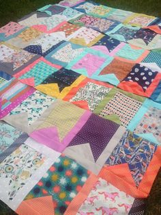 I'm a Ginger Monkey: quilt made with cotton + steel fabric--love this pattern