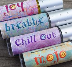 AromaBlends Set - Aromatherapy Essential Oil Blends - Joy, Breathe, Chill Out & Mojo #essentialoils #natural #remedies #mothernature #aromatherapy
