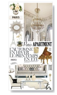 """Paris apartment.. one could dream"" by lseed87 ❤ liked on Polyvore featuring interior, interiors, interior design, home, home decor, interior decorating, Été Swim, UGG Australia, Bernhardt and Ralph Lauren Home"