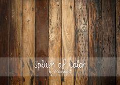 Multi-Brown Wood Floor 5' x 7'