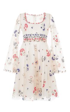 Floral Embroidered Mini Dress by LUISA BECCARIA for Preorder on Moda Operandi