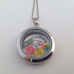 First to find piece. Geocaching Memory Locket Necklace or Key Chain
