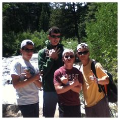 Camp in Colorado with the boys.