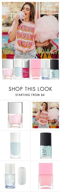 """""""sweet colours"""" by live-in-the-momentum ❤ liked on Polyvore featuring beauty, Nails Inc., NARS Cosmetics, Forever 21 and Christian Dior"""