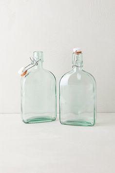 glass storage flasks