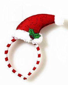 245d9a008a4 Mini Santa Hat with Mistletoe Headband Forum Novelties https   www.amazon.  Tacky Christmas ...