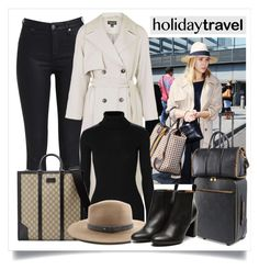 """""""Travel in Style, Holiday Edition"""" by alaria ❤ liked on Polyvore featuring Topshop, Autumn Cashmere, STELLA McCARTNEY, Gucci, rag & bone, Stephane Kélian, travelinstyle and holidaystyle"""