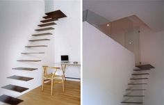 we thought we might share some more amazing and unique staircases but would not, stairs, Scary right Believe it or not these stairs will hold up to 440 lbs on each step made of reinforced steel says Spanish designer