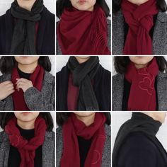 9 classy ways to wear a winter scarf winter fashion scarfh Is winter over yet? ☃️ Until then, these 9 classy ways to wear a scarf will keep you warm! 30 Awesome Photo of Impressive Ways To Wear Blanket Scarf, You can generate a bandana for canines by Diy Fashion, Ideias Fashion, Winter Fashion, Fashion Outfits, Womens Fashion, Fashion Tips, Fashion Trends, Trendy Fashion, Fashion Clothes