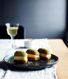 Yama Kitchen & Bar's honey and ginger ice-cream and lemon curd doughnut sandwiches :: Gourmet Traveller