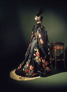 """""""Tulipes Hollandaises"""" (textile) House of Worth (French, 1858–1956) Designer: Charles Frederick Worth (French (born England), Bourne 1825–1895 Paris) Designer: Textile by A. M. Gourd & Cie Manufacturer: Textile by Morel, Poeckès & Paumlin Date: 1889 Culture: French Medium: silk, metal"""