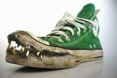 Als Krokodillenleer dan niet meer mag dan maar zo!