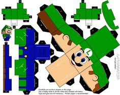 PaperToy_Luigi