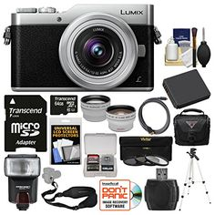 Introducing Panasonic Lumix DCGX850 4K WiFi Digital Camera  1232mm Lens Silver with 64GB Card  Case  Flash  Battery  Tripod  TeleWide Lens Kit. Great Product and follow us to get more updates!
