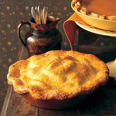 """Apple pie"" conjures warmth, aroma, taste, and togetherness. This one is filled with Granny Smith apples and is tucked into a buttery crust."