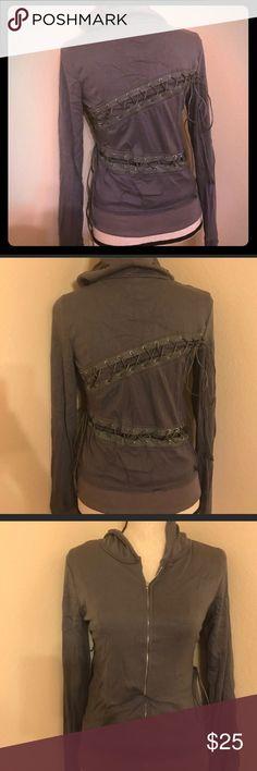 Hooded lace up long sleeve woman's hoodie Hooded lace up long sleeve woman's zip up hoodie Tops Sweatshirts & Hoodies