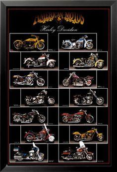 Motocicleta, Harley Davidson Posters na AllPosters.pt