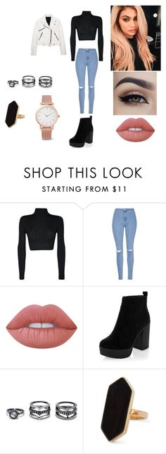 """Kylie Jenner"" by blossomtopgirl on Polyvore featuring Justin Bieber, Kendall + Kylie, WearAll, Glamorous, Lime Crime, New Look, Lulu*s, Jaeger and Larsson & Jennings"