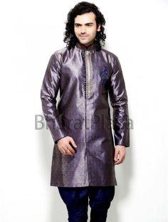 Indian Pakistani Designer Party Wear Indo Werstern Brocade Sherwani #BharatPlaza #DesignerIndoWestern