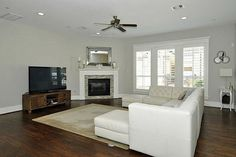 white and grey corner fire place - Google Search
